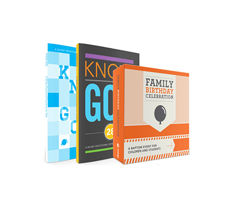 Family Birthday Celebration Bundle: A Baptism Event for Children and Students – Orange